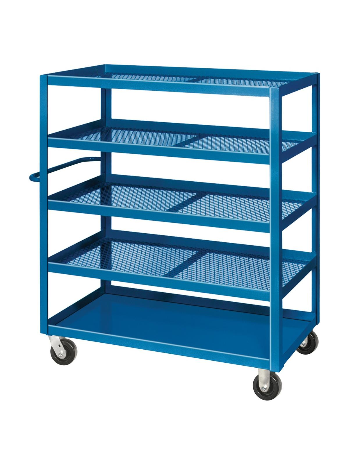 Expanded Metal Stock Cart | North Texas Wheels & Casters